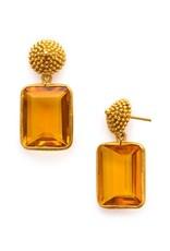 D'Argent Cap & Post Earring Citrine Yellow