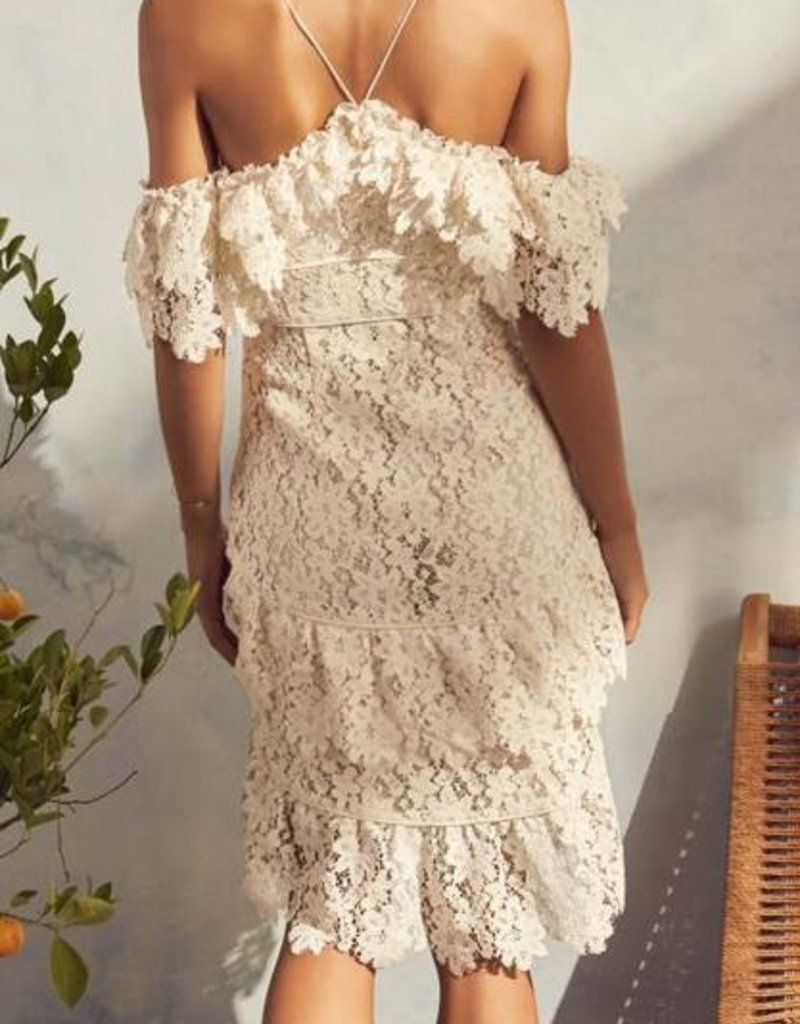 Dana White Ruffle Dress