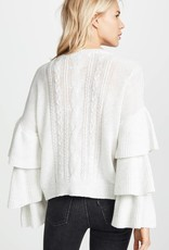 Kristin Ruffle Sleeve Sweater