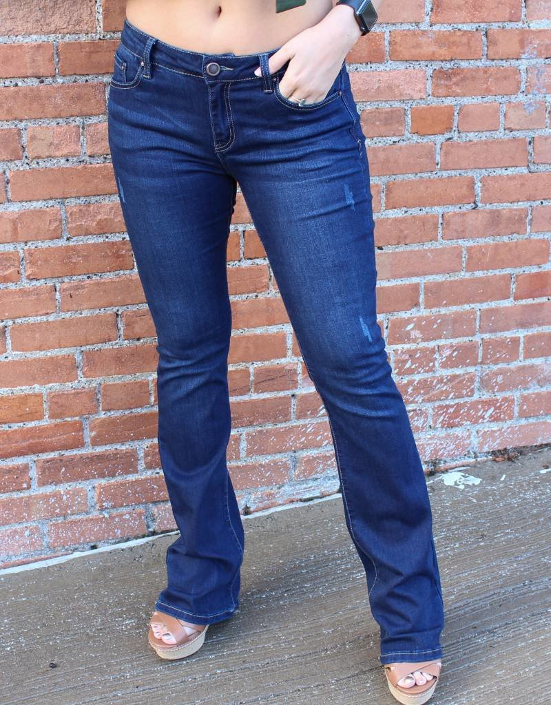 Denim Fuled Bootcut Dark Wash Jeans