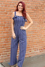 She + Sky Striped Cami Jumpsuit