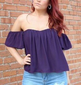 Wild Honey Sweetheart Cold Shoulder Top