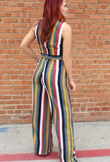 Listicle Stripe V-Neck Jumpsuit