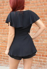 Listicle Faux Wrap Skirt Romper