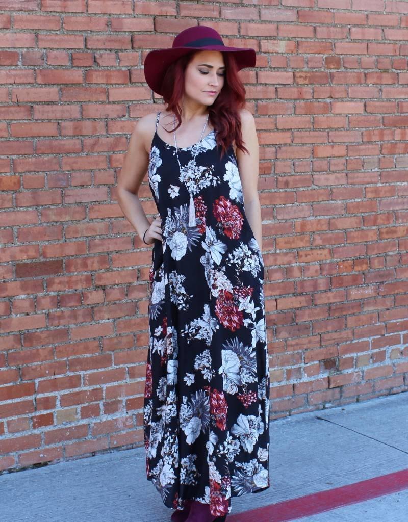 entro Floral Print Maxi Dress