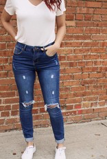 Blue Age High Waist Ripped Knee Skinny Jeans