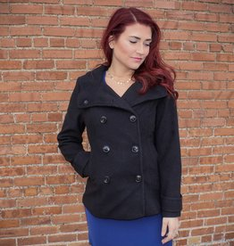 Love Tree Dual Button Pea-coat