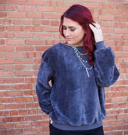 Umgee Long Sleeve Fuzzy Sweater