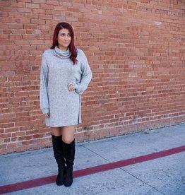 Papermoon Long Sleeve Turtleneck Dress