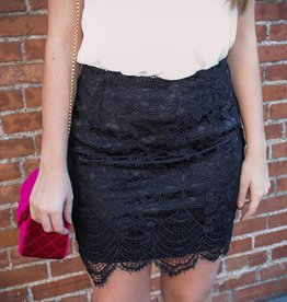 She + Sky Lace Mini Skirt