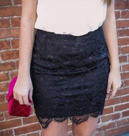 She + Sky Lace Mini Skirt
