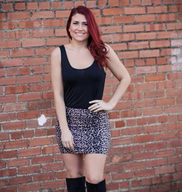 Promesa Animal Print Mini Skirt