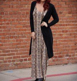 entro Snake Skin Print Maxi Dress