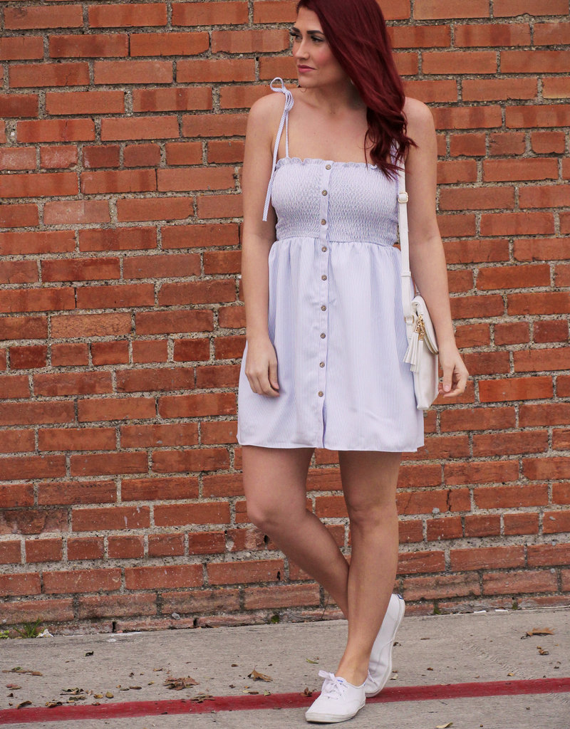 HYFVE Smocked Pinstripe Dress