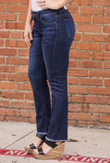 JBD Raw Hem Slim Straight Leg Jeans