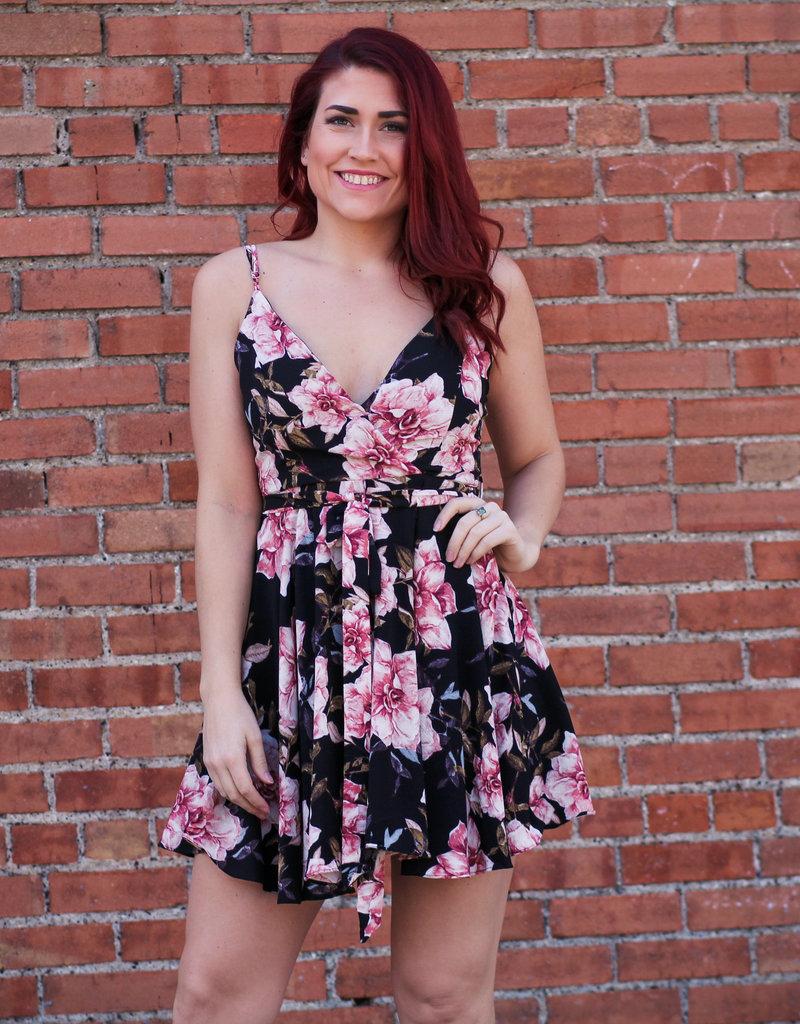 iJoah Floral Skater Dress