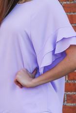 Umgee Ruffle Sleeve Blouse