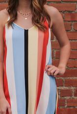 Style Rack V-Neck Stripe Tunic Dress