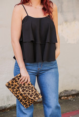 She + Sky Solid Color Layered Cami