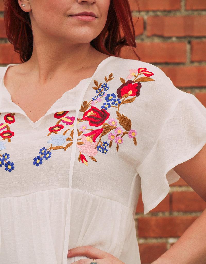 She + Sky Embroidered Fiesta Dress