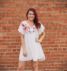 She + Sky Embroidered Fiesta Dress