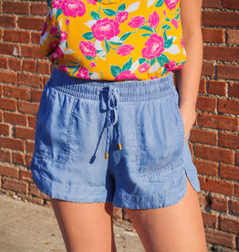 Wishlist Chambray Elastic Waist Shorts
