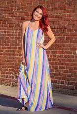 She + Sky Paint Striped Maxi Dress