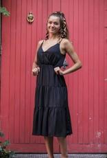 Racheal Tiered V-Neck Midi Dress
