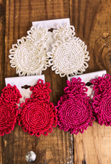 H&D Accessories Round Beaded Earrings