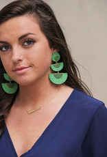 H&D Accessories Tiered Straw Earrings