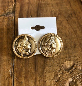 Bag Boutique Coin Stud Earrings
