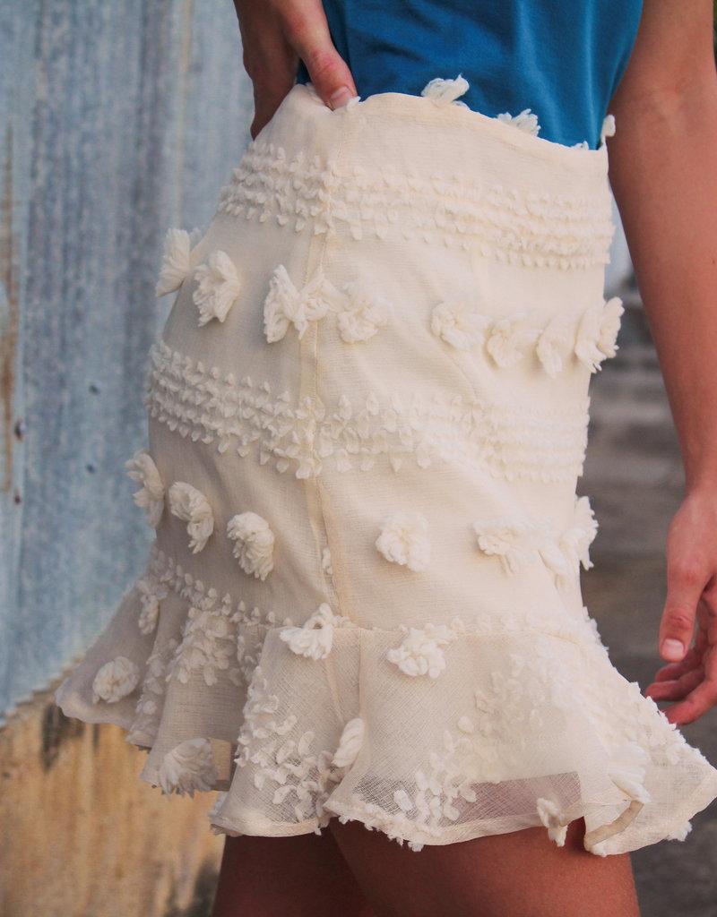 &merci Textured Pom Skirt