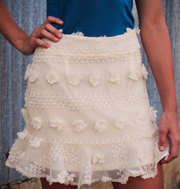 &merci Textured Pom Skirt