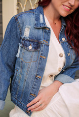 Love Tree Distressed Jean Jacket