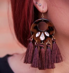 H&D Accessories Resin Fringe Earrings