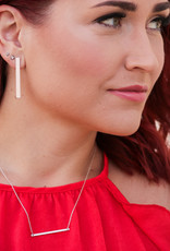 H&D Accessories Basic Bar Earrings