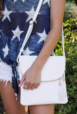Bag Boutique Round Flap Crossbody Bag