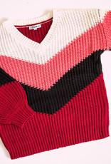 BiBi Chevron Color Block Sweater
