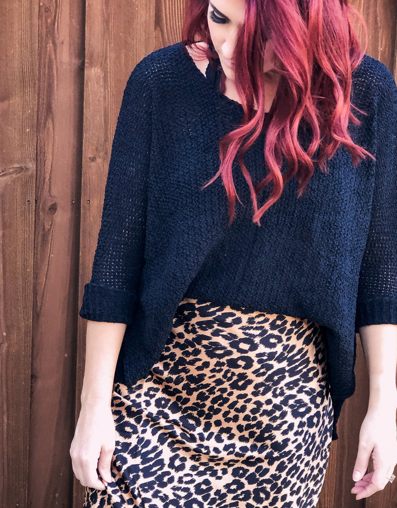 Active USA 3/4 Sleeve Knit Sweater