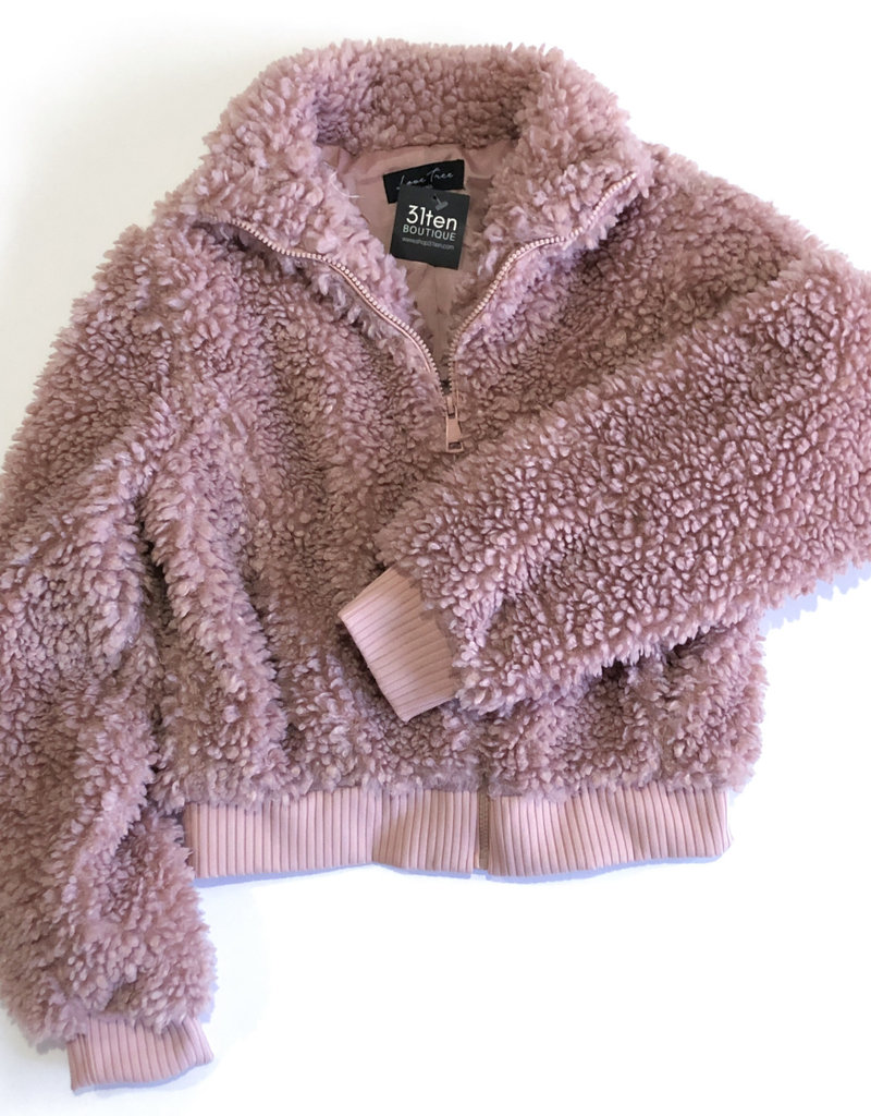Love Tree Zip Teddy Bear Jacket