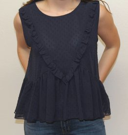 Lelis Girly Ruffle Dot Tank