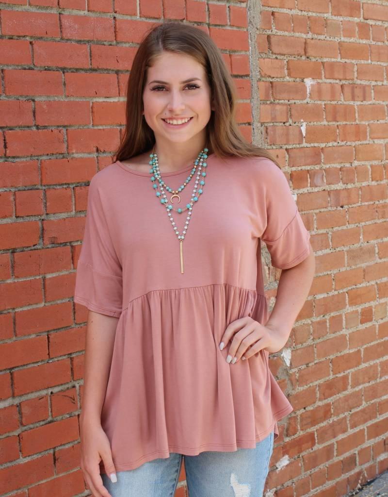 mittoshop Fitted Sleeve Peplum Shirt