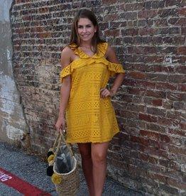 Listicle Lace Ruffle Strap Dress