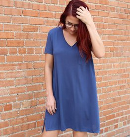 Umgee V-Neck T-Shirt Dress