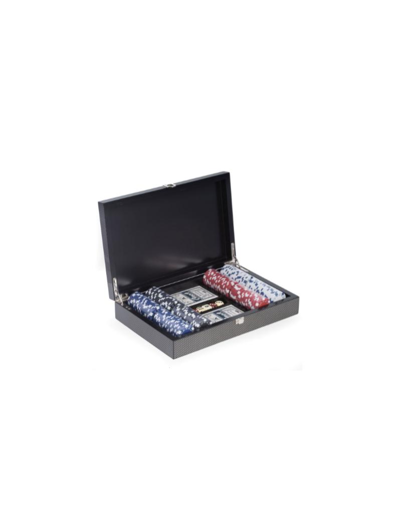 Carbon Fiber Poker Set 200 Chips
