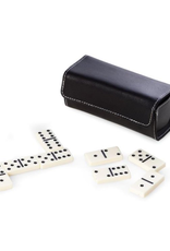 Domino Set in Black Leather Case