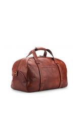 Bosca Leather Weekend Duffel - Washed Dark Brown