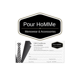 Pour HoMMe GIFT CERTIFICATE $100