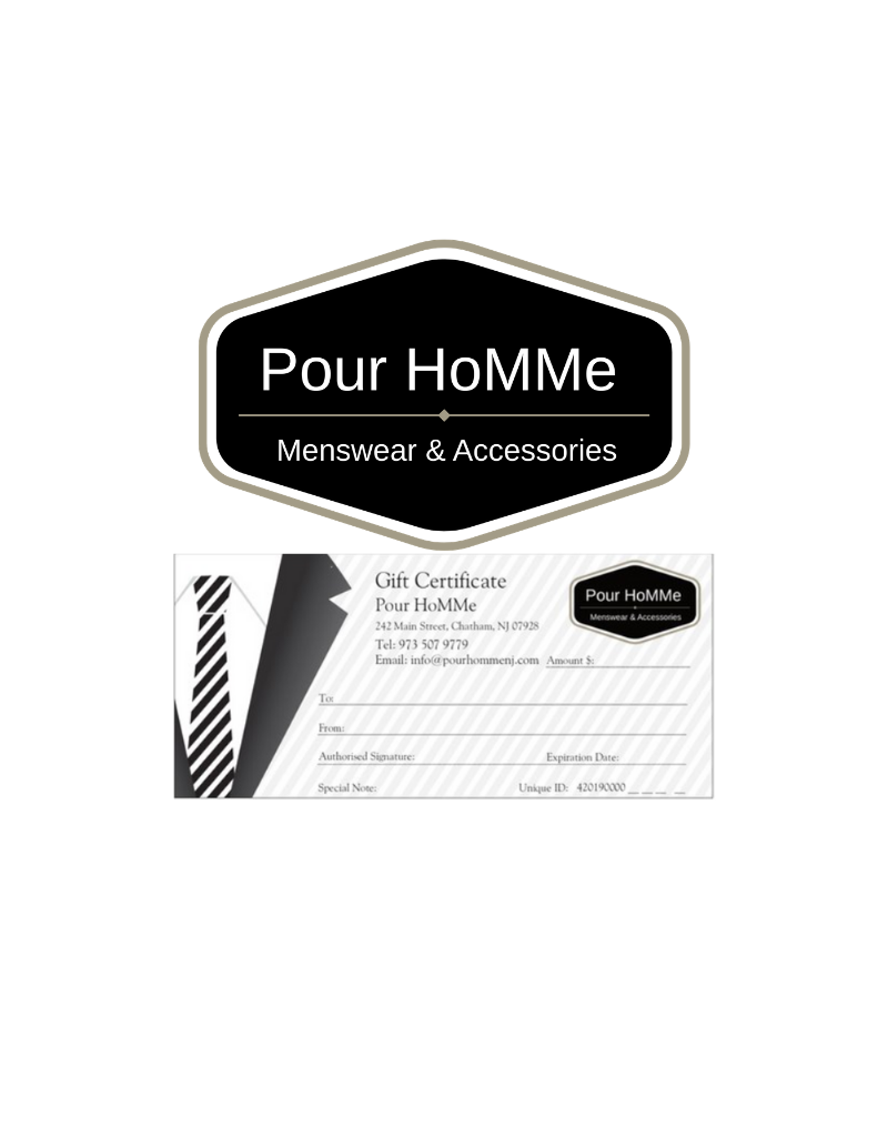 Pour HoMMe GIFT CERTIFICATE $500