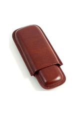 2 Cigar Case Cognac Leather